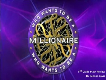 Millionaire Math Review Game