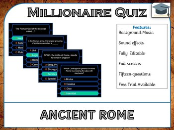 Millionaire Quiz! (Ancient Rome Edition) *US, UK and AUS*