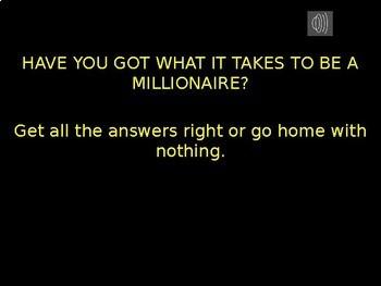 Millionaire Quiz! (Electricity Edition)