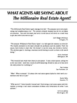 Millionaire Real Estate Agent : It's Not About the Money