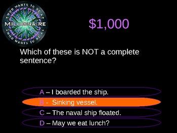Millionaire Sentences and Commas