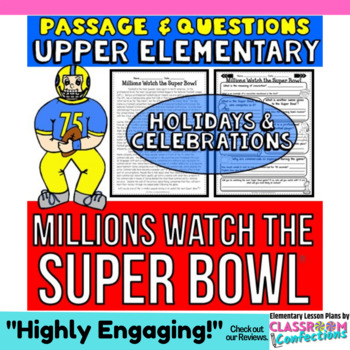 Millions Watch the Super Bowl: Passage and Questions