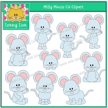 Milly Mouse CU Clipart