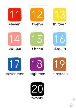 Milou's ESL - The Basics - Numbers - 11 to 20