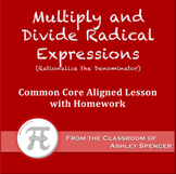 Multiply and Divide Radical Expressions (Lesson Plan with Homework)
