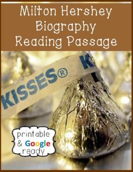 Milton Hershey Biography Close Reading Passage