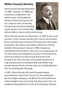 Milton Hershey Handout