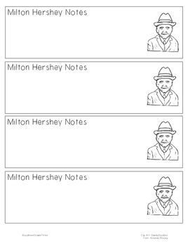 Milton Hershey Notetaking Bookmark