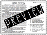 Milton Hershey Reading Passage