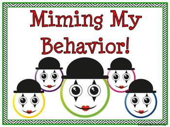 Mime Time! Behavior Clip Chart