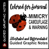 Mimicry, Camouflage and Warning Coloration Guided Graphic Notes