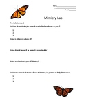 Mimicry/Camouflage Labs (With 3 lesson plans)
