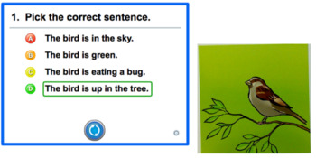 Mimio Activity: Sentence to Picture Matching Multiple Choice