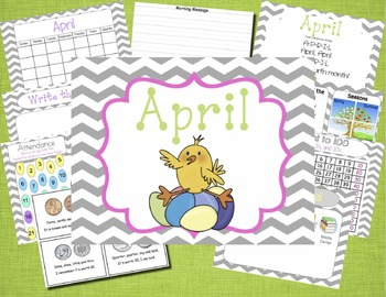Mimio April Calendar Morning Meeting