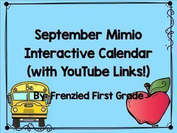 Mimio Calendar - YEAR LONG BUNDLE!!!