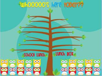 Mimio Check-In Owl Themed