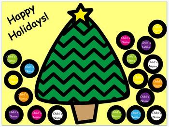 Mimio Christmas Tree Attendance
