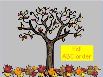 Mimio Fall Abc Order