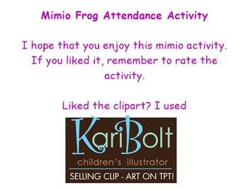 Mimio Frog Attendance Activity