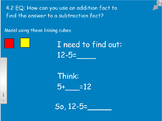 Mimio Smartboard GoMath 1st Gr 4.2 & 4.3 Think Addition to Subtract Using Cubes