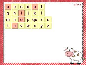 Mimio Letter Tiles - Grade 1 - Farm Themed