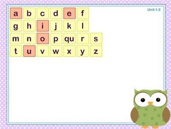 Mimio Letter Tiles - Grade 1 - Owl Themed