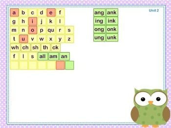 Mimio Letter Tiles - Grade 2 - Owl Themed
