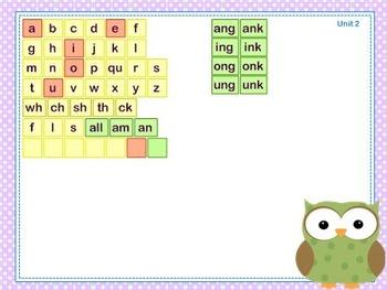 Mimio Letter Tiles - Grade 2 - Owl Themed