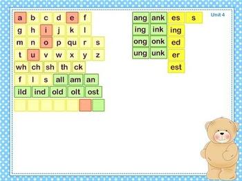 Mimio Letter Tiles - Grade 2 - Teddy Bear Themed