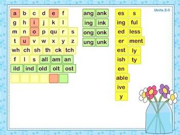 Mimio Letter Tiles - Grade 3 - Flower Themed