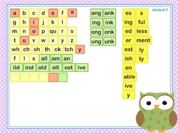 Mimio Letter Tiles - Grade 3 - Owl Themed