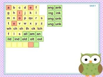 Mimio Letter Tiles - Grade 3 - Owl Themed