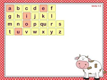 Mimio Letter Tiles - Grade K - Farm Themed