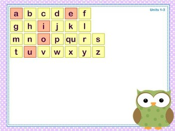 Mimio Letter Tiles - Grade K - Owl Themed
