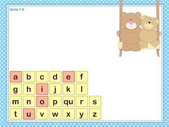 Mimio Letter Tiles - Grade K - Teddy Bear Themed