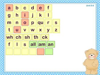Mimio Letter Tiles - Grade 1 - Bear Themed