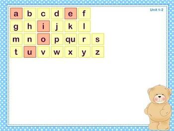 Mimio Letter Tiles - Grade 1 - Bear Themed