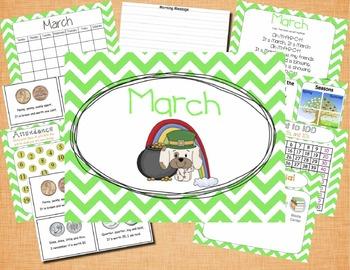 Mimio March Calendar Morning Meeting