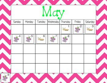 Mimio May Calendar Morning Meeting