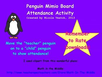 Mimio Penguin Attendance Activity