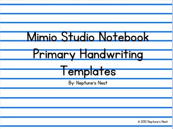 Mimio Primary Handwriting Templates