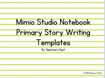 Mimio Primary Story Writing Templates