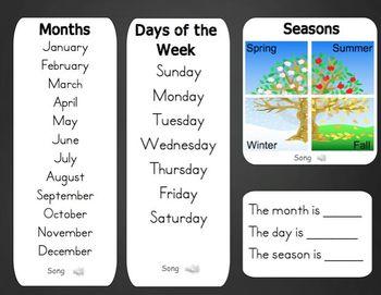 Mimio September Calendar Morning Meeting