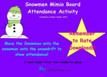 Mimio Snowmen Attendance Activity