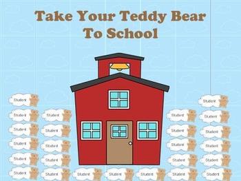 Mimio Teddy Bear Attendance Activity