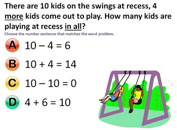 Mimio Vote (PPT compatible with vote) Addition & Subtraction Word Problems