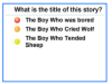 "Mimio Vote Assessment for ""The Boy Who Cried Wolf"""