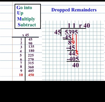 Mimio ink file on Long Division