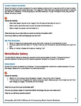 MimioStudio Software Workbook - Beginner