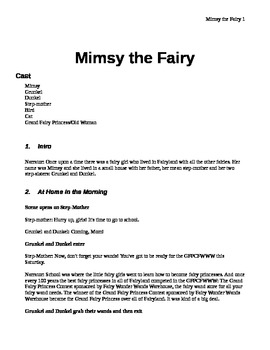 Mimsy the Fairy - A Puppet Show